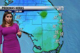 bajaran aun mas las temperaturas desde esta noche en el sur de florida