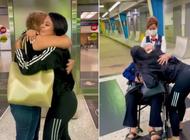 la dura protagoniza emotivo encuentro con su abuela y su mama: estoy muy feliz