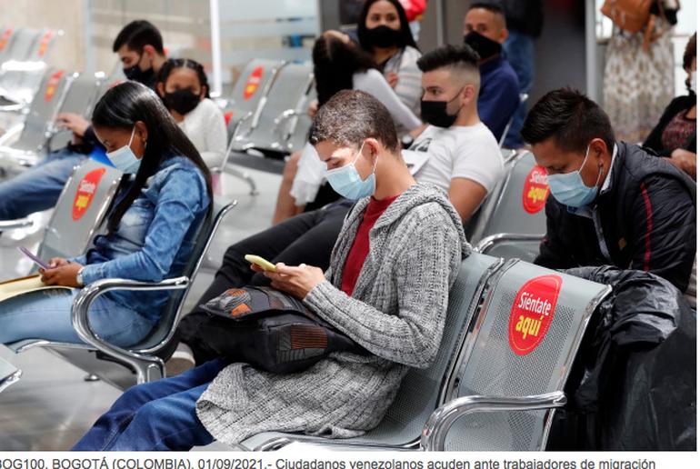 Colombia espera cerrar 2021 con un millón de venezolanos regularizados