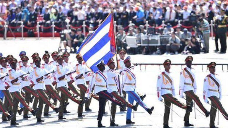 Tropas cubanas participaron en el desfile en China por el fin de la II Guerra Mundial