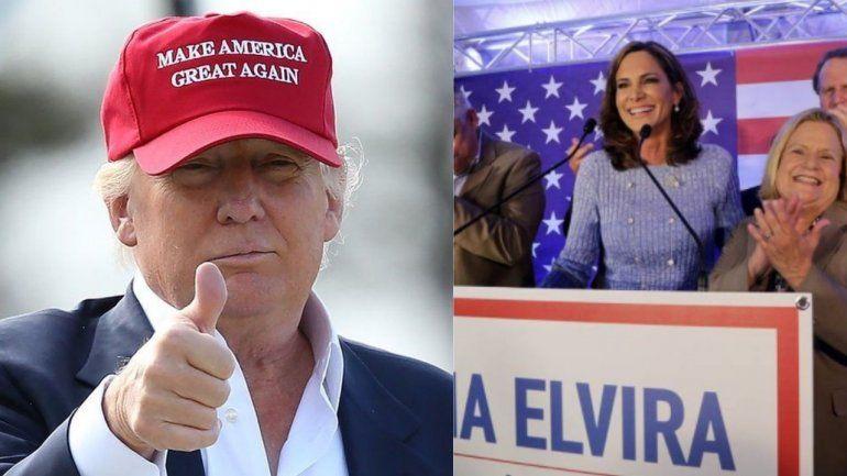 Trump apoya a Elvira Salazar, candidata republicana al  Congreso Federal por el distrito 27 de la Florida