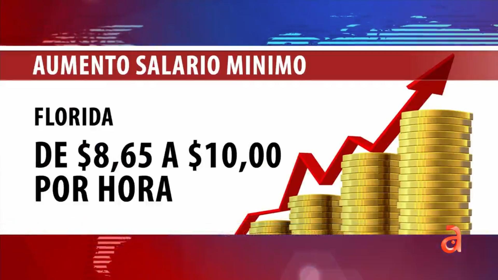 florida aumentara el salario minimo a $10 la hora a partir de este jueves