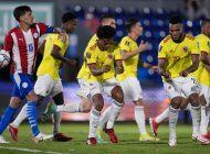 penal de cuadrado le da a colombia el empate 1-1 en paraguay