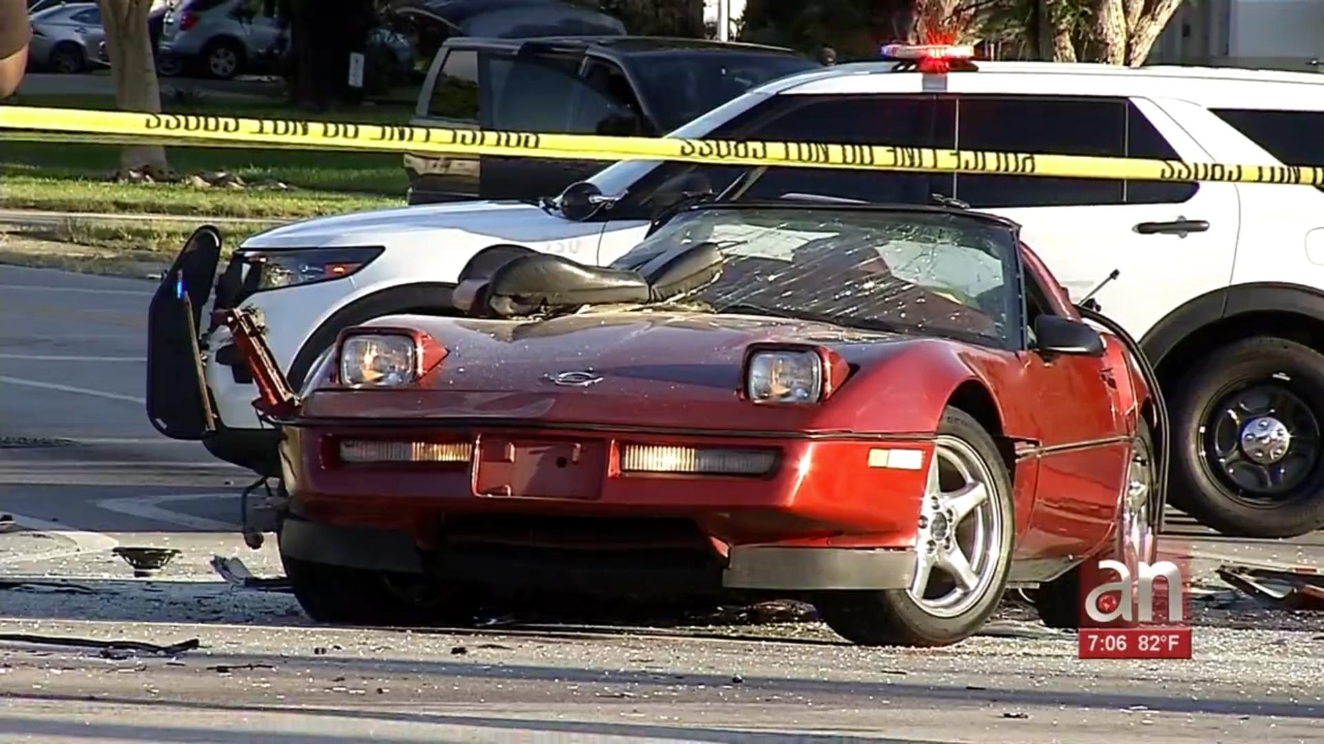 El conductor de un Corvette muerte en terrible accidente en Miami Gardens