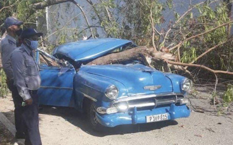 La caída de un árbol sobre un almendrón en el Cerro deja a un hombre muerto