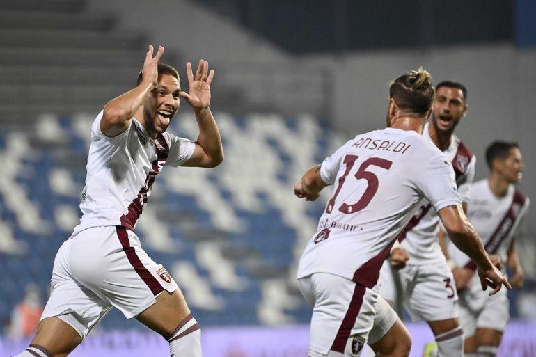 Pjaca anota al final y Torino supera a Sassuolo