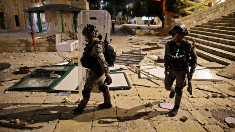 Balas de goma y granadas causan estragos en Jerusalén