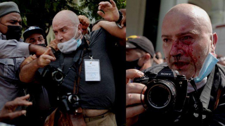 Agentes del MININT golpean brutalmente a periodista extranjero de Associated Press