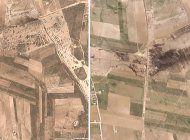 fotos aereas muestran efectos de ataque en el norte de siria