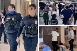 video: al menos cinco heridos y una persona en custodia tras tiroteo en el aventura mall