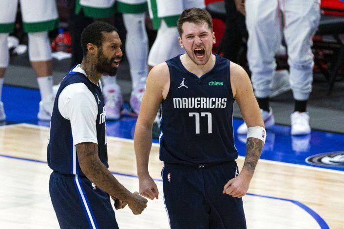 Doncic atina triple agónico; Hawks superan a Celtics