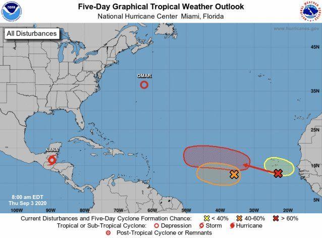 Vigilan tres sistemas tropicales con probabilidad de desarrollo
