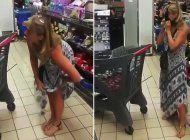 mujer se quita el tanga y se lo pone como mascarilla cuando le llaman la atencion en supermercado