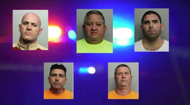 Cinco hombres de origen cubano arrestados en Homestead por  intentar robar cables de cobre de la compañía AT&T