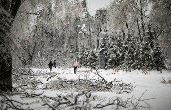 Miles sin calefacción, luz, en Rusia tras tormenta de hielo