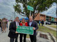 hialeah nombra calle en honor a la doctora ana maria polo