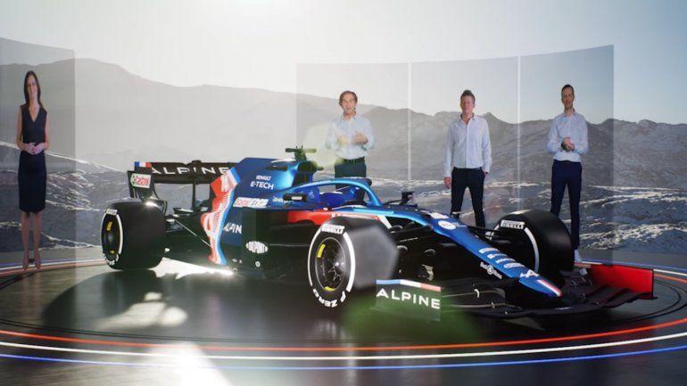 Alpine presenta un modelo con colores de bandera francesa