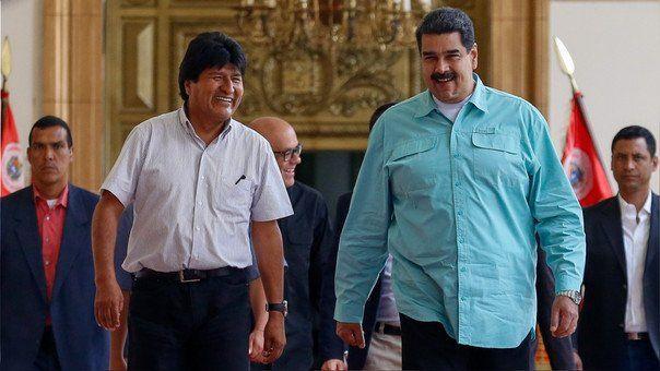 Nicolás Maduro confirmó que Evo Morales estuvo en Venezuela el fin de semana