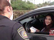 conductores son sorprendidos por la policia de hialeah gardens