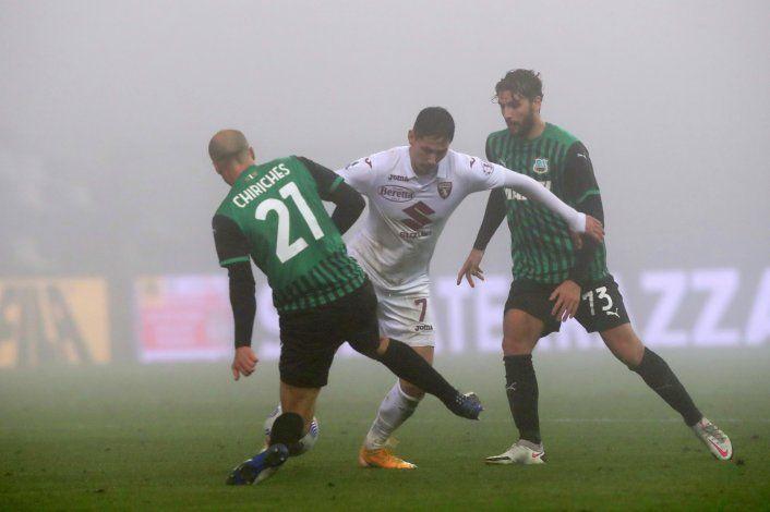 Sassuolo rescata empate con el Torino, es segundo en Italia