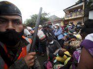 guatemala intenta impedir paso a caravana de hondurenos