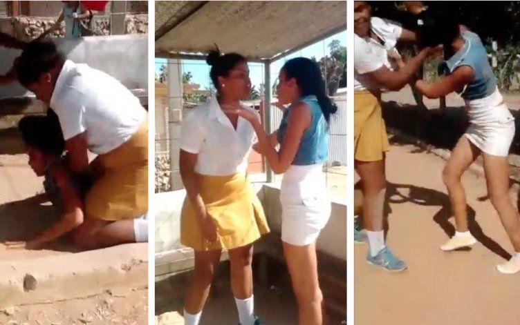 Violenta pelea entre una alumna de secundaria y su maestra en una escuela de Camagüey