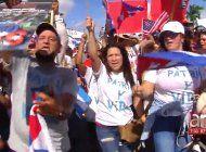 hialeah: cientos de cubanos marchan por la libertad de cuba