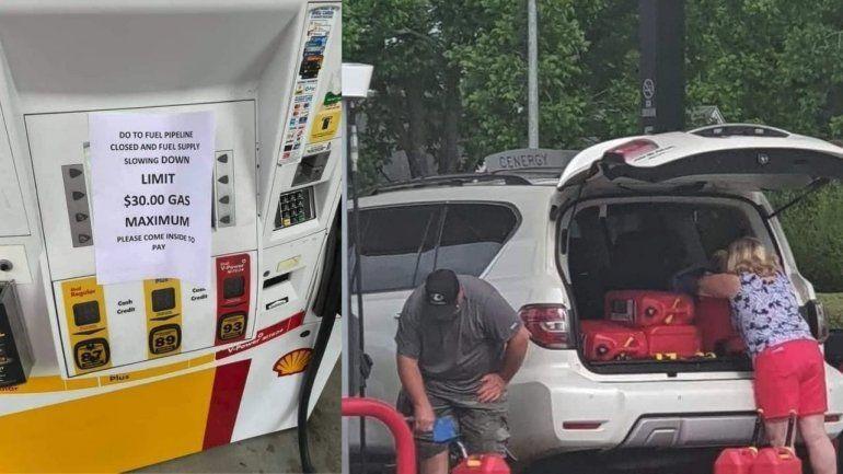Largas filas y gasolineras de Miami sin combustible tras ciberataque a oleoducto