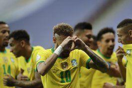 brasil golea a venezuela, al abrirse por fin la copa america