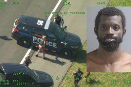 intensa persecucion en florida.: un hombre roba una patrulla de policia y cuando intentan capturarlo se fuga en un segundo auto policial