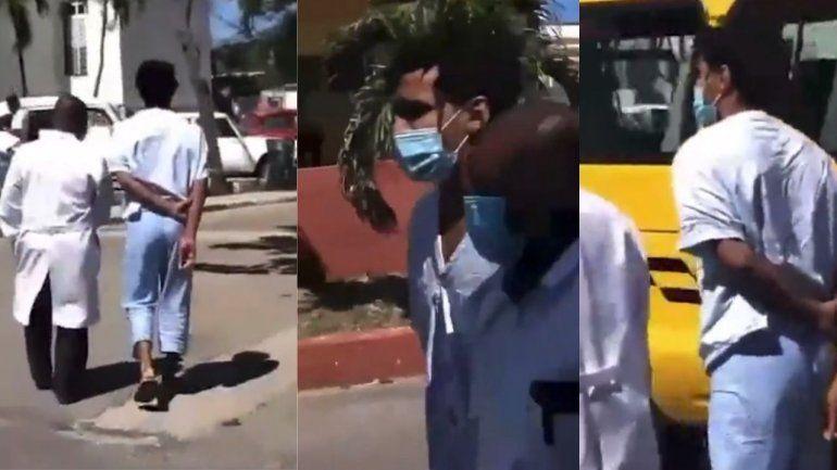 Sale a la luz nuevo video de Luis Manuel Otero Alcántara caminando por las afueras del hospital Calixto García