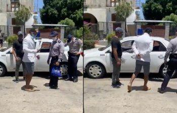 Captado en cámara como arrestan al rapero  Maykel Osorbo
