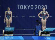 mendoza y hernandez rozan el podio olimpico sincronizado