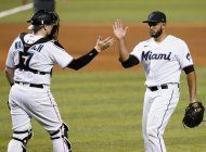 duvall rompe el empate y marlins barren a diamondbacks