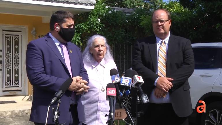 Detienen por ahora el desalojo de Ana Lazara de su casa en Miami