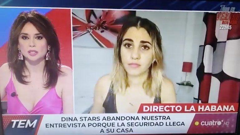 El régimen arresta a la influencer cubana Dina Stars mientras hablaba en vivo con un canal de televisión español