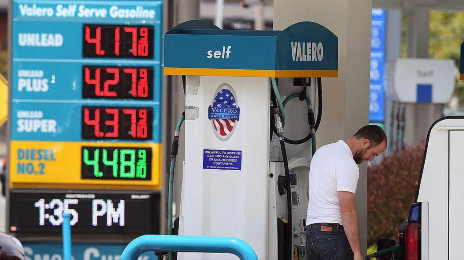 el precio de la gasolina en ee.uu. alcanza su maximo en 7 anos