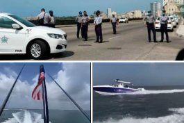 Flotilla de exiliados cubanos ya se encuentra frente a Cuba y la dictadura militariza el malecón