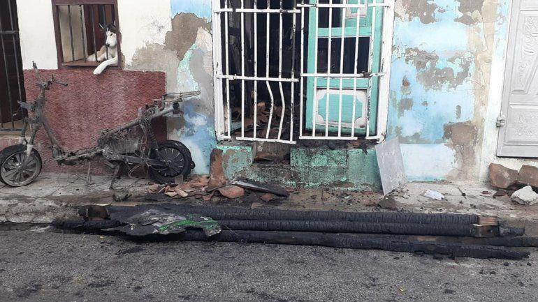 Una fallecida y dos niños graves tras el incendio de una moto eléctrica en Sancti Spíritus