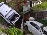automovil de turismo cae por un puente y deja dos personas heridas en camagüey