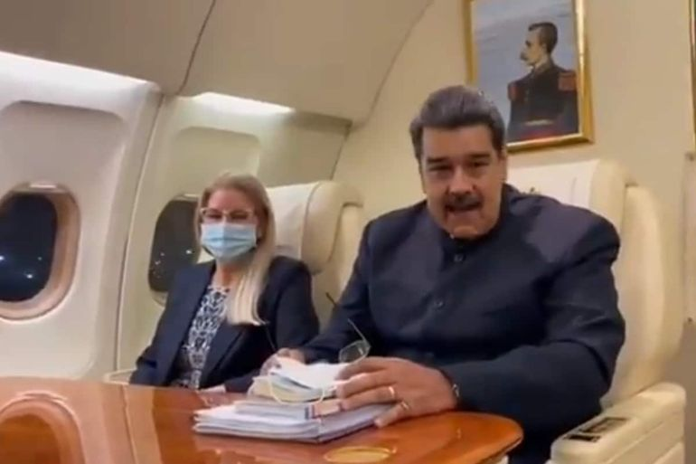 Nicolás Maduro llegó a México para participar en la cumbre de la Celac