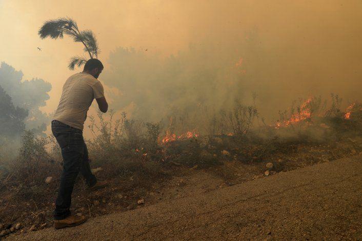 Incendios forestales en Líbano cruzan la frontera a Siria