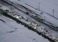 un muerto, 17 heridos en enorme choque vial en japon