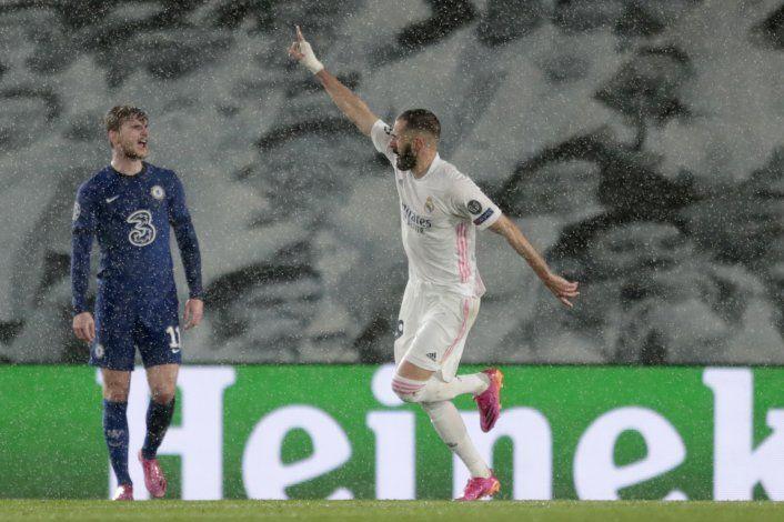 Benzema mantiene vivo al Madrid, empate 1-1 ante Chelsea