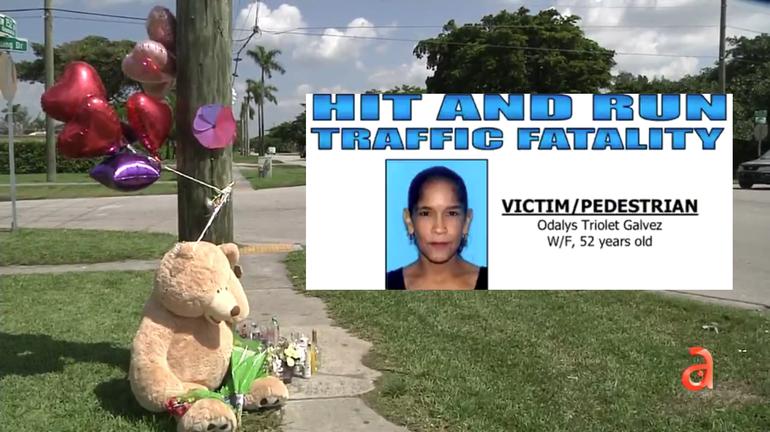 Familiares y amigos piden ayuda para encontrar al chofer que atropelló mortalmente a una mujer en Homestead