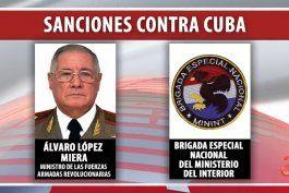 administracion biden sanciona al ministro de las far, alvaro lopez miera y a las brigadas de fuerzas especiales por abusos contra manifestantes