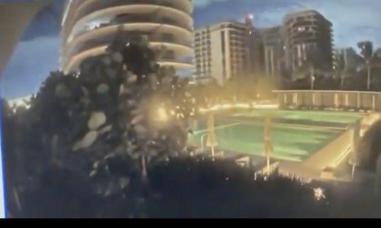 El video del momento en que se derrumba el edificio de Miami