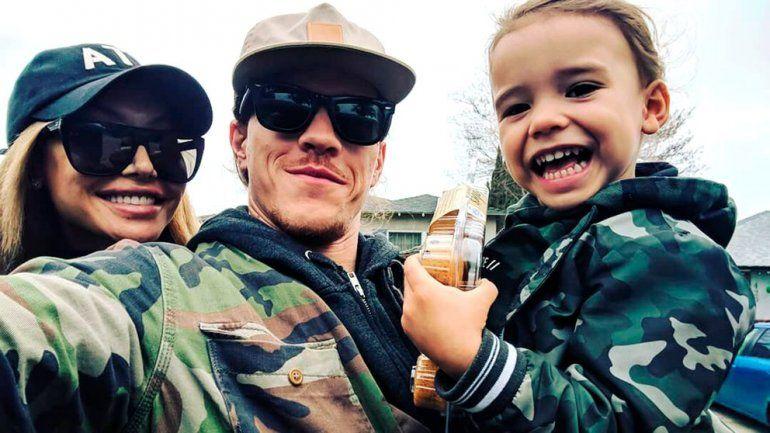 Naya Rivera con su ex esposo e hijo (Ryan Dorsey/Instagram)