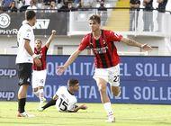 maldini de 3ra generacion anota en liga italiana