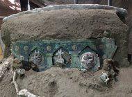 hallan importante carro ceremonial cerca de pompeya